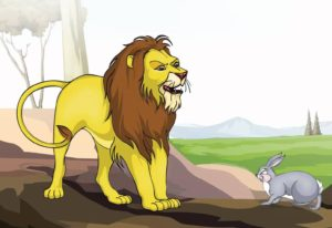 the lion and the rabbit story pictures