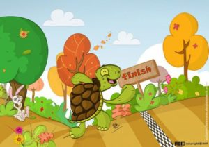 the rabbit and tortoise story in english