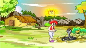 farmer and the snake moral story in hindi